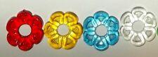 50 Ceramic Christmas tree light flower petal nest rings bulbs vintage twist bulb
