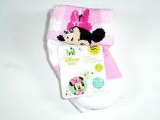 NEW 2 PAIRS DISNEY GIRLS FOLD-OVER MINNIE MOUSE NON SKID SOCKS SIZE 6-12M NS8