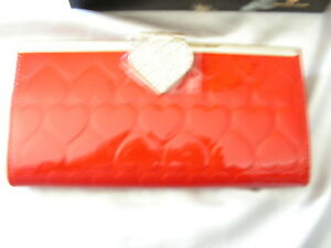 Omnia Crystal Clutch Radiant Heart 3133 Leather Red