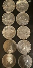 10 lot of 1960 Canada silver dollars from Estate