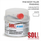 SOLL FINE BODY FILLER PUTTY 0.25kg Fine Easy Sand Finish Professional Car Repair
