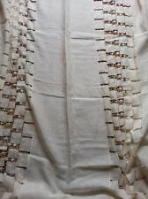 POMPEI ART NOVELLA TELO CLASSICO tessuto stoffa TENDA LINO ricamato scampolo