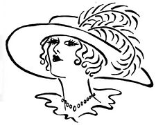 Unmounted Rubber Stamps, Art Stamps, Victorian Lady, Lady with Hat, Feathers
