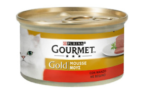 Purina Gourmet Gold Mousse Beef Packet  Cat Pet Food 85g
