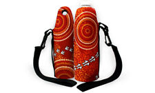 Water Bottle Cooler Aboriginal Design   - Dry Design  -  Luther Cora