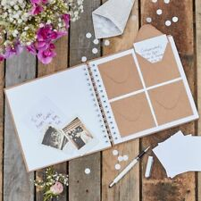 'Best Day Ever' Wedding Guestbook with 80 Mini Envelopes and 80 Notecards