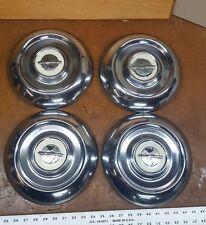 (4) 1948-1953 Oldsmobile Futuramic 98 Dog Dish Hub Cap Wheel Caps Vintage OEM