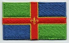 Embroidered LINCOLNSHIRE Flag Iron on Sew on Patch Badge HIGH QUALITY APPLIQUE