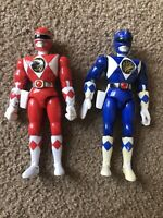 Mighty Morphin Power Rangers 1994 Bandai 8 Inch Figures Lot Of 2 Red Blue