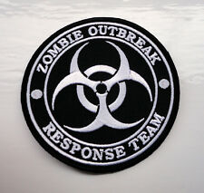 P2 Zombie Outbreak Response Team Funny Iron Patch Biker Living dead Biohazard
