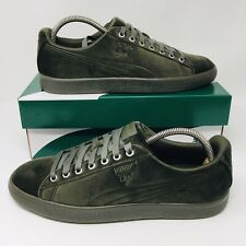 *NEW* Puma Clyde Velour Ice (Mens Size 8.5) Suede Fashion Sneakers Olive Green