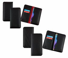 Premium Carbon Fibre Finish Magnetic Slim Case Cover Sleeve Fits Bluboo Phones