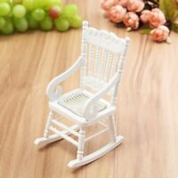 ❤️ 1:12 Dollhouse Miniature Furniture Wooden Rocking Chair for Dolls House Toys
