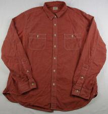 J Crew JCREW Mens XL Red Chambray Long Sleeve Button Down Shirt