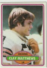CLAY MATTHEWS 1980 TOPPS RC #418 CLEVELAND BROWNS NM-MT