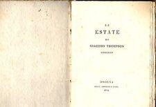 Libro Antico La Estate Le Stagioni The Seasons James Thomson Modena 1817