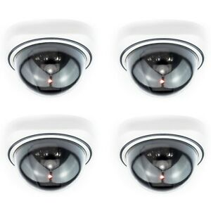 Dummy Dome CCTV Camera Outdoor Indoor Fake CCTV Security Cam Flashing LED