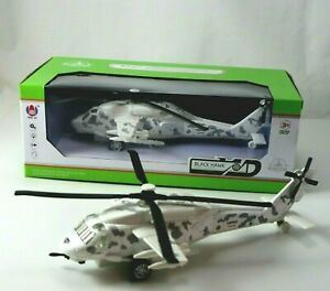 Black Hawk Military Attack Helicopter Toy Model with Sound and Lights Spins