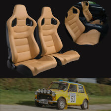 1 Pair Car Racing Seats Pu Leather Adjustable Bucket Seats With 2 Sliders Fits Toyota Celica