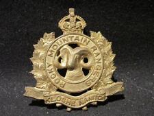 Rocky Mountain Rangers Kamloops BC Canada WWII Era King's Crown Cap Badge