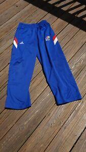 Kansas Jayhawks Adult Medium Warm Up Pants by Adidas