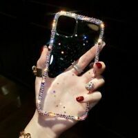 For iPhone 12 11 Pro Max XS XR 7 Epoxy Glitter Colorful Diomand Case Full Cover