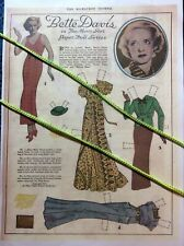 Bette Davis, The Milwaukee Journal, ©️1936, Color Copy