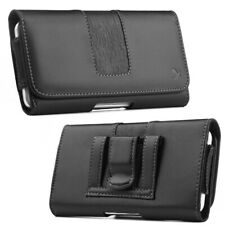 Luxmo Leather Belt Clip Pouch Holster Phone Holder Horizontal #14 Black USA