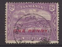 Tasmania GARDEN ISLAND CREEK postmark on 2d pictorial rated R+(9) by Hardinge