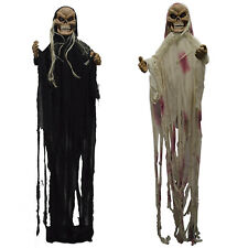 Halloween Horror Party Screaming Glowing Eyes Hanging Witch Decoration