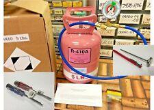R410a, Refrigerant Recharge Top-Off Kit, 5 lb. Instructions, Color Gauge, Kit X