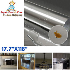 Stainless Steel Silver Contact Paper Vinyl Self Adhesive Film Appliances Kitchen