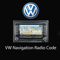 Volkswagen Navigation Radio Code Unlock Stereo Codes PIN | Fast Service UK