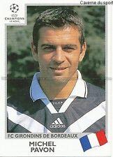 N°266 MICHEL PAVON GIRONDINS BORDEAUX UEFA CHAMPIONS LEAGUE 2000 STICKER PANINI