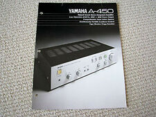 Yamaha A-450 integrated amplifier brochure catalogue