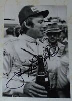 Johnny Rutherford auto photo signed Indianapolis Indy 500 HOF