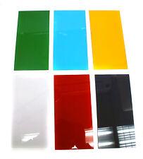 1 set Acrylic sheet Transparent 20x10cm Green Blue Orange Clear Red Black-Purple