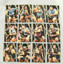 1996 SERIES 2 RUGBY LEAGUE STATE WARS CARDS - SW1 to 12, STATE OF ORIGIN