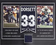 TONY DORSETT DALLAS COWBOYS OLD TEXAS STADIUM SEAT 8 X 10 COA