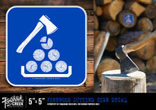Axes - Antique Axe - Norlund Axe - Camping - Woods - Firewood Cutting Sign Decal