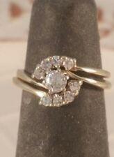 14K Yellow Gold Genuine Diamond Bridal Set! Very Sparkly Diamonds! FREE SIZING!!