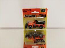 Matchbox maintenance truck #69 On CARD BLISTER  1996 in the coler orange black