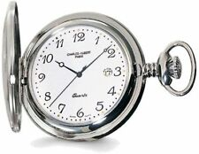 Charles Hubert Stainless Steel White Dial with Date Pocket Watch XWA582