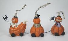 Vintage Pumpkin Train with Engine and 2 Cars Halloween Tabletop Decor