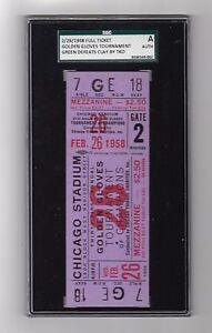 1958 Golden Gloves Cassius Clay Muhammad Ali Only Amateur KO Loss Full Ticket