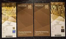 LONDON 2012 OLYMPIC OPENING & CLOSING CEREMONY TICKETS OFFICIAL SPECTATOR GUIDES