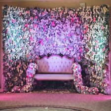 Flowers Wall Wedding Sofa Backdrop 8x8ft Background Photography Studio Prop Show