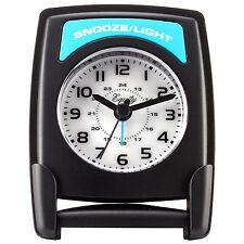 20085 Equity by La Crosse Fold-Up Quartz Travel Alarm Clock with Blue Backlight