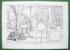 ARCHITECTURE PRINT : Vaulted Ceilings in Regensburg Cathedral Radclyffe Bristol