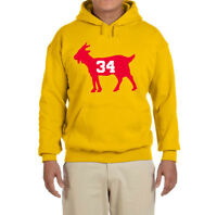 Houston Rockets Hakeem Olajuwon Goat Hooded sweatshirt